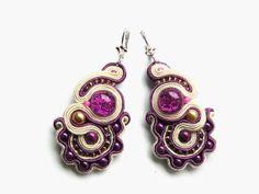 Lilac  soutache earrings by Bajobongo on Etsy, $20.00