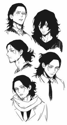 Aizawa's hair is so pretty