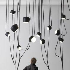 Flos Aim hanglamp set LED zwart