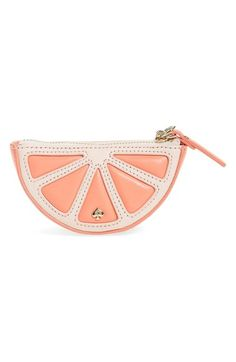 KATE SPADE 'Grapefruit' Coin Purse. #katespade #bags #leather #wallet #accessories #