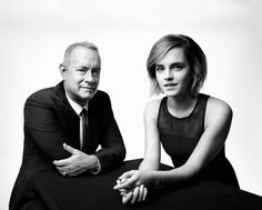 Emma with Tom Hanks photographed by Art Streiber for Esquire UK - 2016