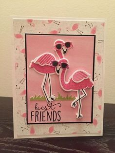 Flamingo Friends by Kim Wolff