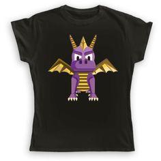 Camisetas de uno de los classicos personajes de videojuegos de la infancia, Spyro