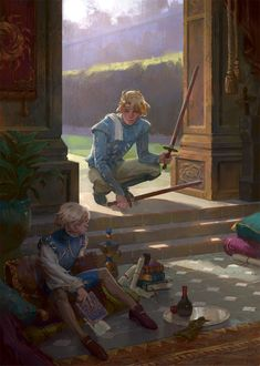 I will fight anyone who doesn't agree that this is Laurent and Auguste from Captive Prince Anime Art Fantasy, Illustration Inspiration, Illustration Art, Fantasy Inspiration, Character Design Inspiration, Fantasy Mermaid, Arte Peculiar, Captive Prince, Wow Art