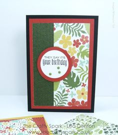 The Crafty Spark: Super Simple Speedy Cards on Sunday #4 - Botanical Gardens & Suite Sayings Stampin Up UK #thecraftyspark #botanicalgardens #cleanandsimple