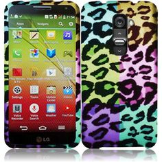 hColorful Leopard Rubber Feel Skin Hard Case For LG G2 mini D618 D620 D625 Phone #UnbrandedGeneric