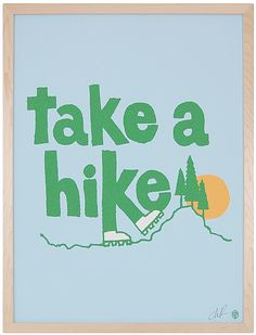 Take a Hike Framed Art Print