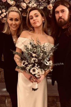 Miley Cyrus Will Make You Consider an Off-the-Shoulder Wedding Dress, If You Haven't Before