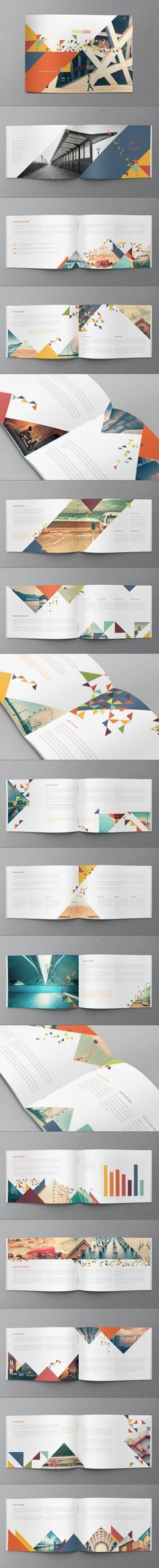 Colorful Modern Brochure by Abra Design, via Behance