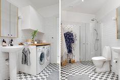 baño con lavadora integrada : via MIBLOG