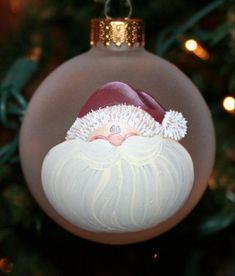 Handpainted Christmas Ornaments, Christmas Ornament Crafts, Hand Painted Ornaments, Noel Christmas, Christmas Baubles, Holiday Ornaments, Handmade Christmas, Christmas Tree Decorations, Holiday Crafts