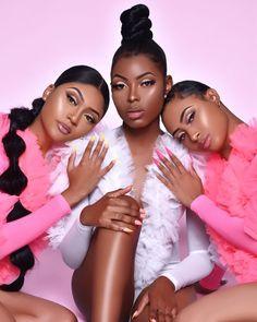 Glam Photoshoot, Photoshoot Concept, Photoshoot Themes, Goddess Hairstyles, Cool Hairstyles, Black Girls Hairstyles, Black Girl Aesthetic, Business Hairstyles, Girls Makeup