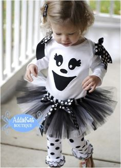 Boutique Ghost Halloween Tutu Costume-ghost tutu outfit, Halloween costume, boutique style, infant costume, toddler