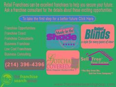 Retail Franchises are excellent franchises to invest for the...