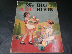 The Big ABC Book Vintage Copyright 1919 by NeverTooOld on Etsy