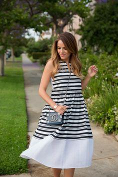 Gal Meets Glam - Tibi Dress,  Chanel Bag