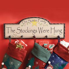Christmas Stocking Hanger For People Without A Fireplace