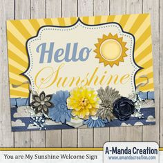 You are My Sunshine Party Printable Welcome Sign by #AmandaCreation, welcome guests to your party in style.