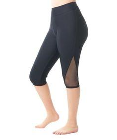 26a71ac0a21 Love My Curves Black Mesh Swim Capris - Women