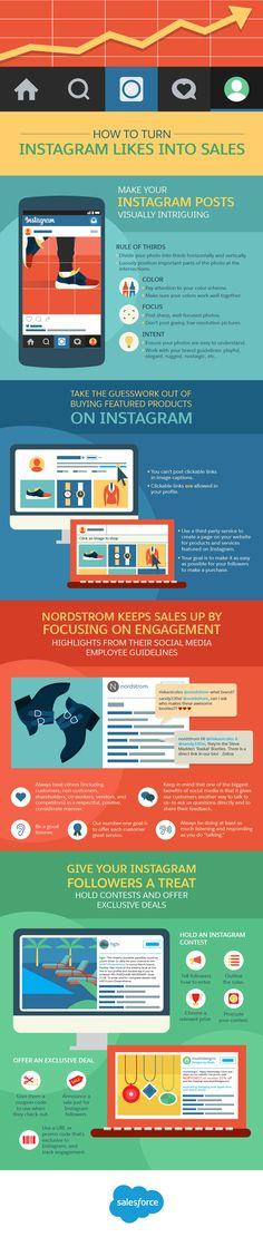 Cómo convertir los Me gusta de Instagram en ventas #infografía