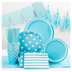 Lunch Napkin Light Blue Printed (20 Count) Spritz™ : Target
