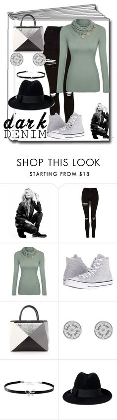 """""""Untitled #1284"""" by princhelle-mack ❤ liked on Polyvore featuring Superfine, Topshop, Converse, Fendi, Giani Bernini and Gucci"""