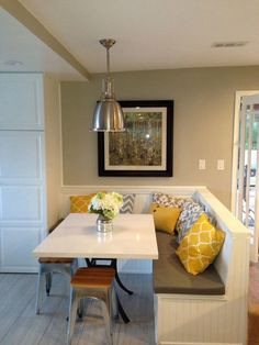 Dining Room Built In Bench With Storage For The Home