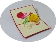 Butterflies and Flower - 3D Pop Up Cards - Greeting Cards - Ovid Gifts