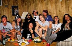 Soundgarden and Pearl Jam backstage at Lollapalooza, 1992 #tbt
