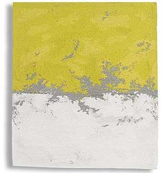 "Sara Brennan | Grey Line With Yellow II | linen + wool + cotton | 41-1/2"" x 36"" 