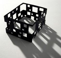 model. shapes. cutouts. squares. corners.
