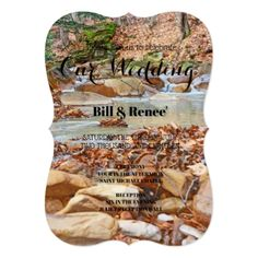 Babbling Brook Wedding Invitation - outdoor gifts unique cyo personalize