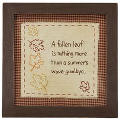 Autumn Decor. A fallen leaf is nothing more than a summer's wave goodbye.