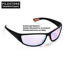 8e1e5cab2f Pilestone Color Blind Glasses TP-017 Adult Size Streamline Titanium Coated