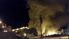 Fire breaks out in mine in Chile 8/17/15