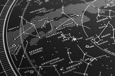 Map I – The Northern Sky (Silver-White/Black) by stellavie design manufaktur , via Behance