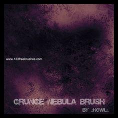 Grunge Nebula - Download  Photoshop brush http://www.123freebrushes.com/grunge-nebula/ , Published in #GrungeSplatter. More Free Grunge & Splatter Brushes, http://www.123freebrushes.com/free-brushes/grunge-splatter/ | #123freebrushes