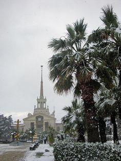 Snow in Sochi - Sochi, Krasnodar