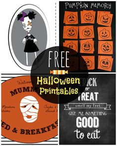 Free Halloween Printables - Decor, cupcake wrappers, kids games and more!