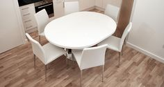 Curva White Gloss And Elise Extending Dining Set