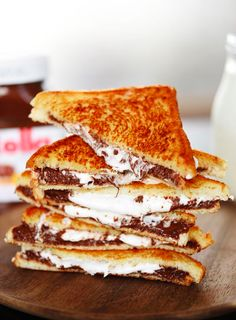 Grilled Nutella & Marshmallow Sandwiches | Eat More Chocolate | The dessert…