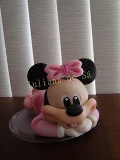 Topo de Bolo - Minnie Baby Ateliê Juliana de Sá e-mail: julianah.sa@hotmail.com