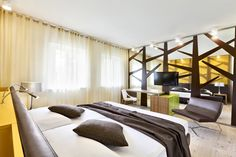 """Hotel Cadelach """"salice"""" room. The #Cadelach #Forest #rooms: 8 rooms which draw their inspiration directly from nature and the four elements. Project by #DanieleMenichini"""