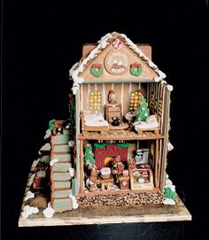 Gingerbread French Bakery - Pictures of Gingerbread Houses - Good Housekeeping