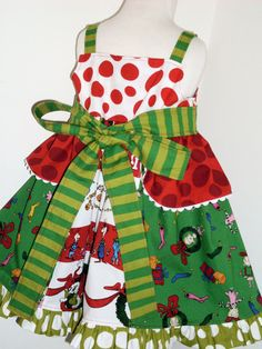 Grinch Christmas Knot Jumper Dress 2 3 4 5 6 7 8 by thatssoaddie