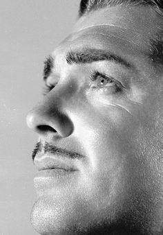 """Clark Gable. Those eyes alone should have earned him the title of """"The King""""."""