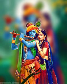 Image may contain: 2 people, people standing and text Radha Krishna Holi, Lord Krishna Images, Radha Krishna Pictures, Krishna Photos, Krishna Art, Shree Krishna, Krishna Drawing, Krishna Painting, Krishna Avatar