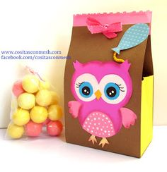 Caja de regalo con cartulina para el día de la madre paso a paso ~ cositasconmesh Ideas Hogar, Ideas Para, Diy Gifts, Owl, Instagram, Chocolates, Anime, Owl Box, Decorated Boxes