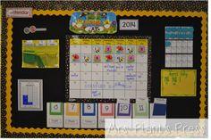 Primary Press: Calendar in the Primary Grades First Grade Calendar, Calendar Time, First Grade Math, Calendar Wall, Calendar Ideas, Calendar Skills, Kindergarten Calendar Math, Calendar Activities, Classroom Calendar
