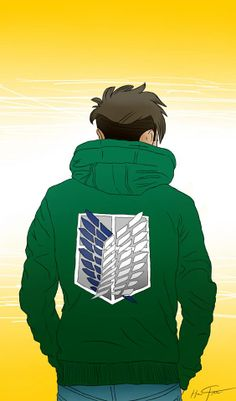 Jean in a Survey Corps Sweatshirt!